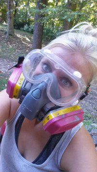 Safety First: This is what I look like often around the house. My kids don't even take a second glance anymore.