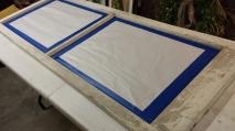 Spray Varnish on Frame
