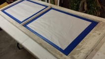 Spray Varnish on Frame