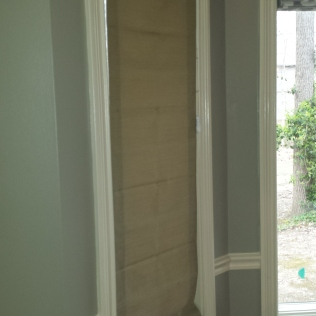 Roman Shades - Before